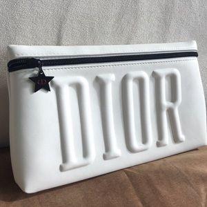 DIOR white cosmetic bag